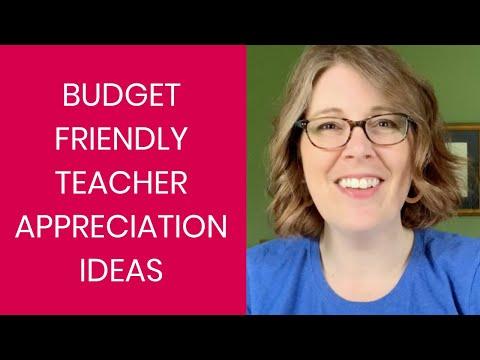 Budget Friendly Teacher Appreciation Ideas