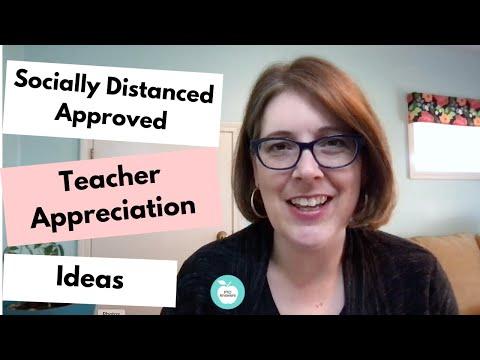 Social Distance Approved Teacher Appreciation Ideas