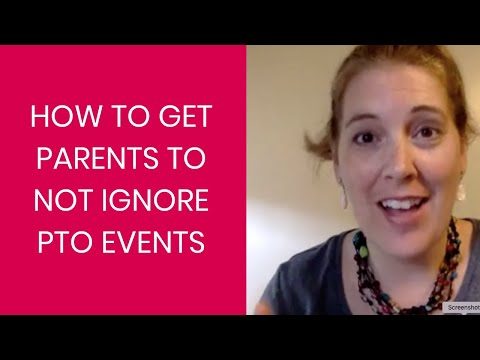 How to Get Parents to NOT Ignore PTO Events