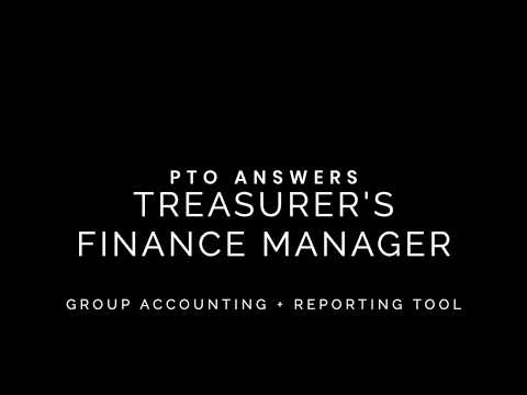 PTO Treasurer's Finance Manager Set Up and Tour