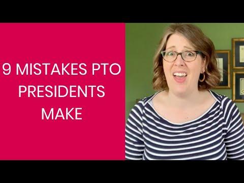 9 Mistakes PTO Presidents Make