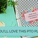 PTO planner on a gold background