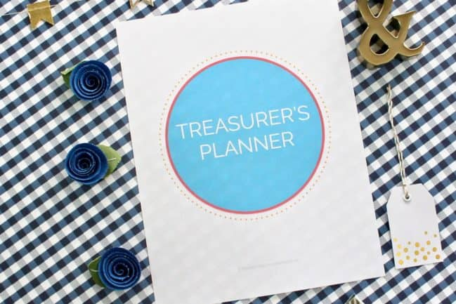 pto treasurers planner and organizing kit