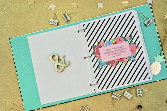 pto binder planner divider pages with inspirational quotes and sayings