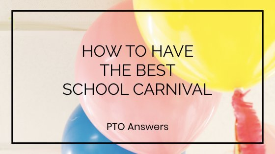 school carnival and balloons