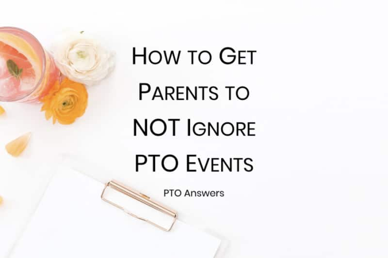 How to get parents to not ignore PTO events with clipboard and flowers
