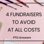 fundraisers to avoid at all costs with Pencil with shavings on pink background