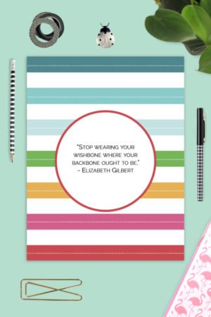 printable inspirational quote binder divider page for pto pta on colorful desktop