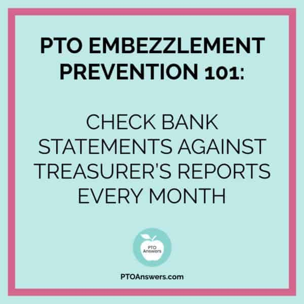 How to protect your PTO and prevent theft or embezzlement. Great information for all PTO Presidents, Treasurers and Officers! Pin to read later! #ptoanswers #pto #pta