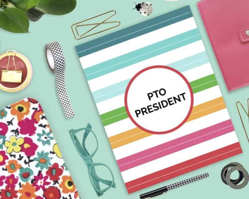 pto / pta president's planner and organizing kit