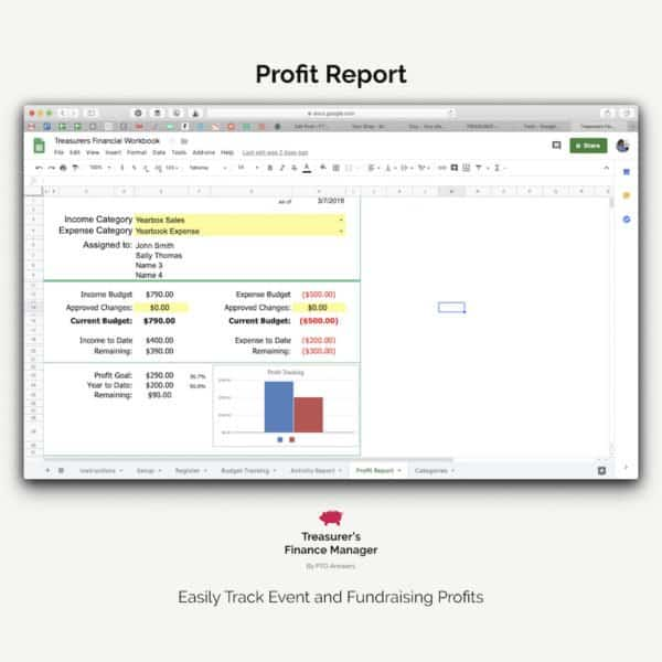 PTO finance software profit report spreadsheet