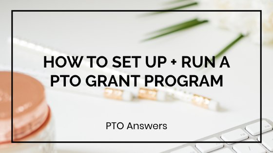 pto mini grant program for teacher requests
