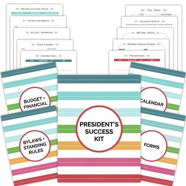 PTA PTO President's Success Kit