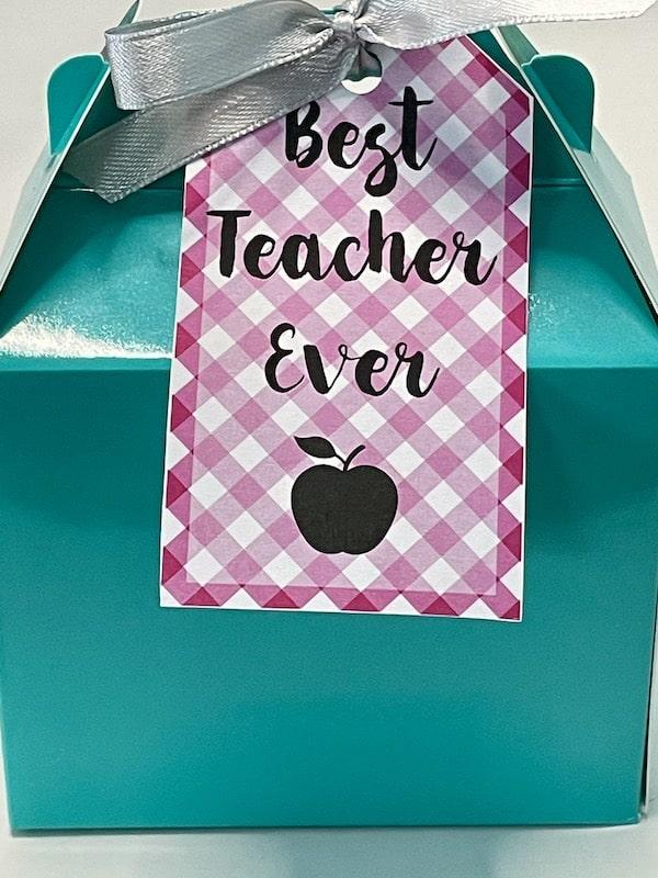 Best Teacher Ever Printable Gift Tag
