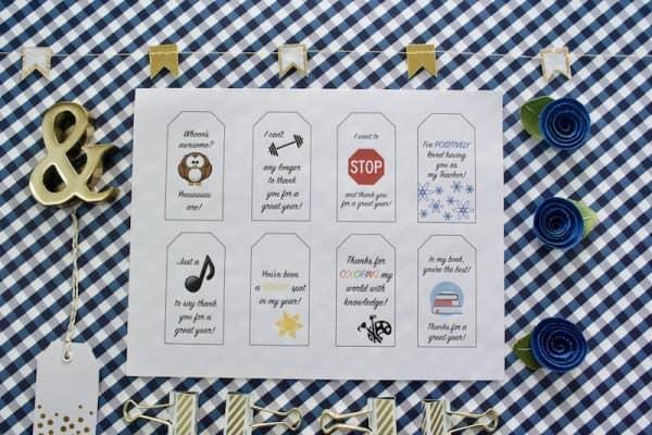 Punny Teacher Appreciation Gift Tags