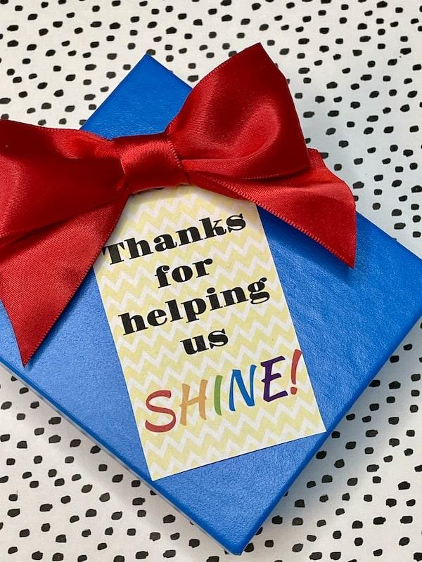 Thanks for Helping Us Shine Tag Set